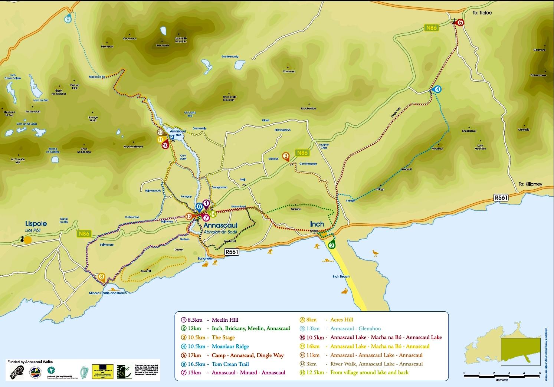 Walking In Annascaul Hiking On Dingle Peninsula - Map your walking route