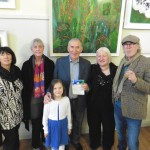 Wheeshie Fogarty opening the Annascaul Artist Exhibition