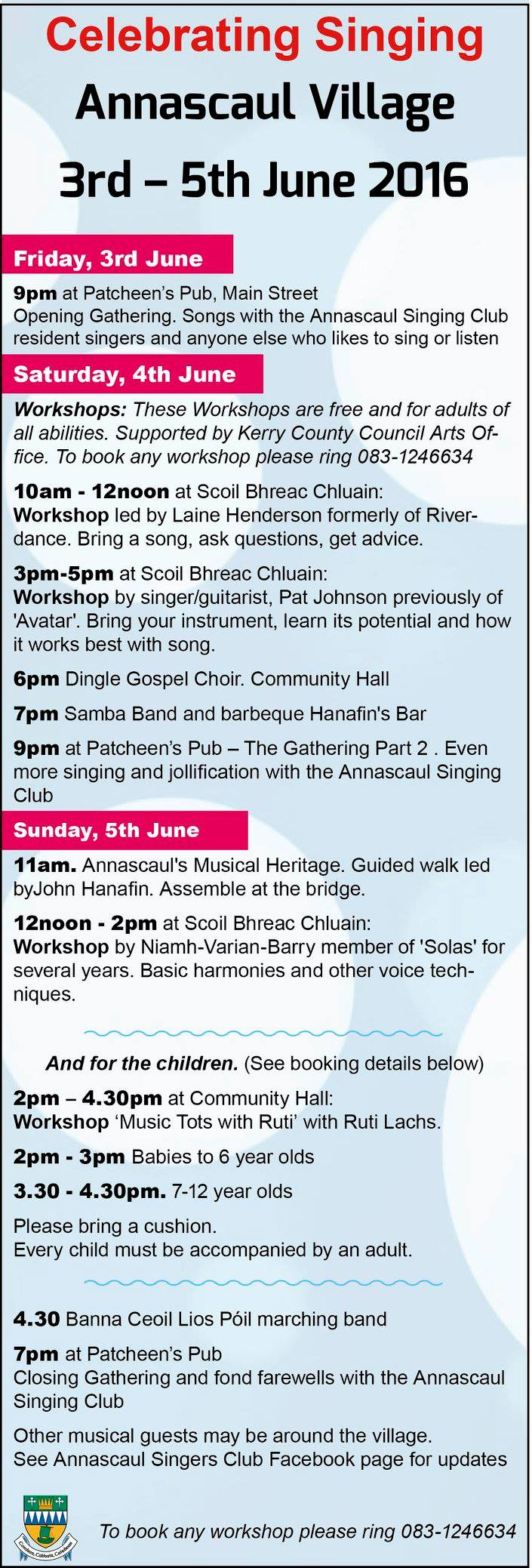 Annascaul singing program