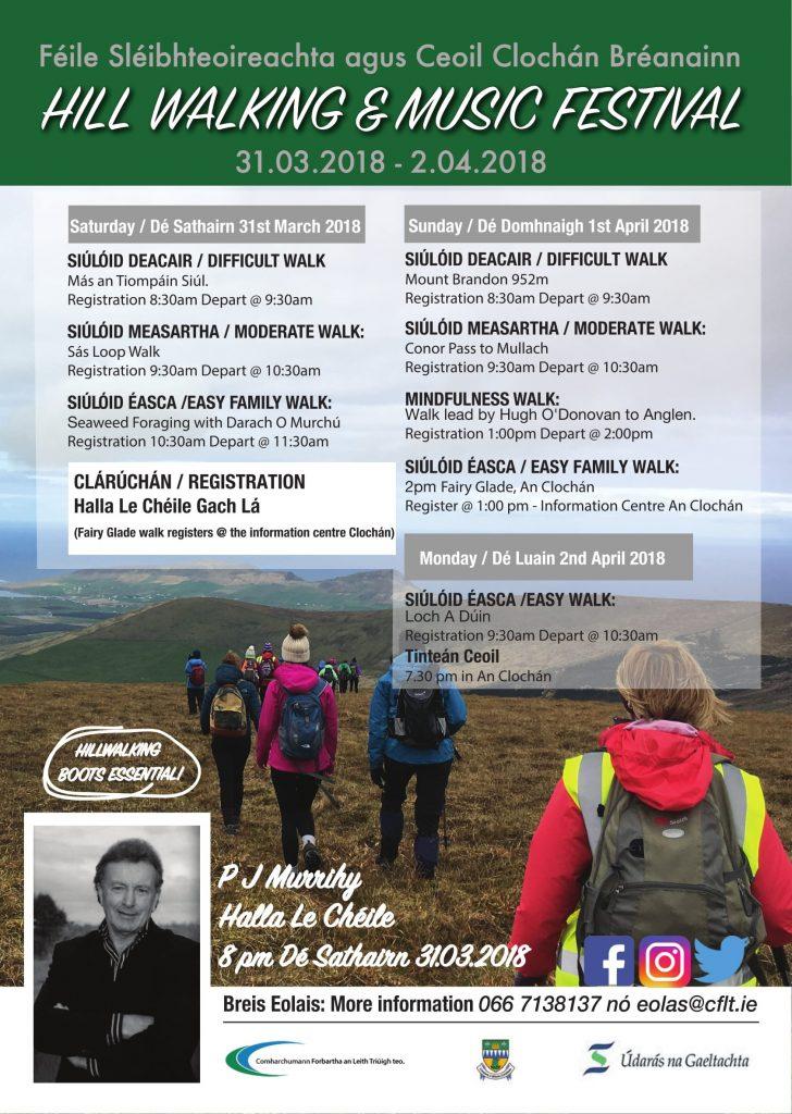 Cloghane Brandon Hillwalking and Music Festival for 2018
